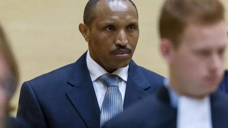 Bosco Ntaganda au premier jour de son procès en septembre 2015. REUTERS/Michael Kooren