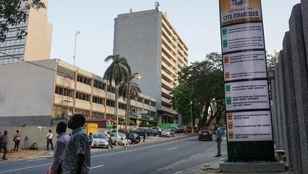Le quartier d'affaires du Plateau à Abidjan le 6 mai 2019. © ISSOUF SANOGO / AFP
