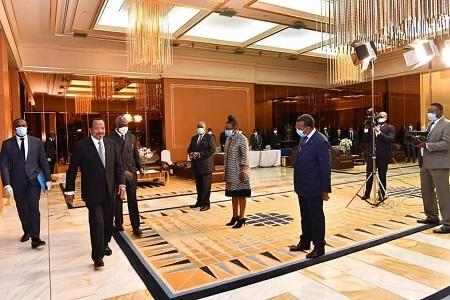Le président du Cameroun Paul Biya s'est exprimé mardi soir à la télévision pour la première fois depuis le début de l'épidémie du Coronavirus le 19 Mai 2020 Photo : RSA