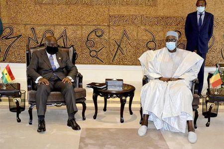 Le chef de l'Etat ghanéen Nana Akufo-Addo a rencontré le président de transition Bah N'daw