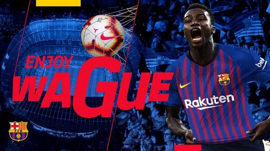 Moussa Wagué. www.fcbarcelona.com