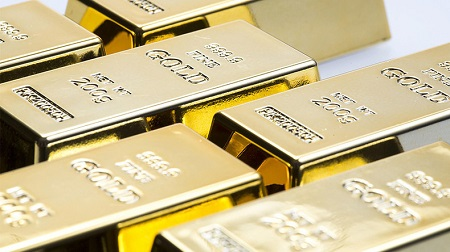 Réserves d'or, Image d'illustration.