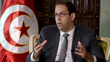 Le Premier ministre tunisien Youssef Chahed le 8 novembre à Tunis. © FETHI BELAID / AFP