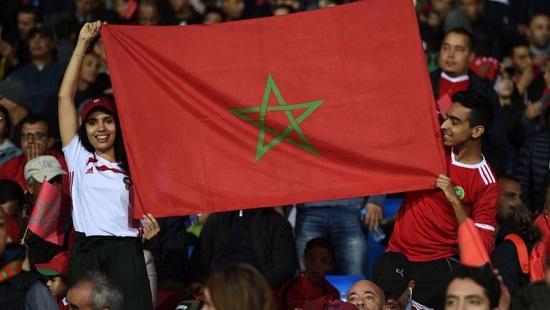Des supporters Marocains au stade Mohamed V de Casablanca. FADEL SENNA / AFP