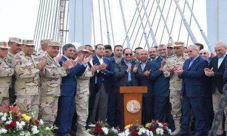 le président al-Sissi inaugure le plus large pont suspendu au monde, au-dessus du Nil