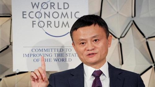 Jack Ma, président du groupe Alibaba, ici, le 23 janvier 2019, au Forum économique mondial (WEF) à Davos, en Suisse. Il est le dernier en date à défendre le rythme «996» qu'on impose aux employés chinois. REUTERS/Arnd Wiegmann