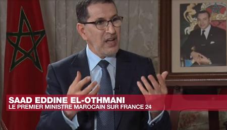 Le Premier ministre marocain, Saad Eddine El Othmani. Photo: capture d'écran