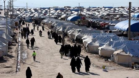 Vue générale du camp de Al-Hol en Syrie où s'entassent 76.000 réfugiés en avril 2019. REUTERS/Ali Hashisho