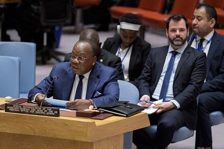 François Louncény Fall, le Représentant spécial du Secrétaire général pour l'Afrique centrale, devant le Conseil de sécurité (photo d'archives).Photo ONU/Manuel Elias