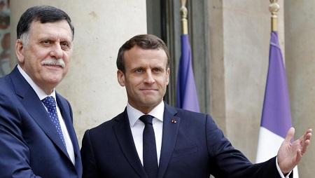Le président français Emmanuel Macron a reçu à l'Élysée le Premier ministre libyen Fayez-al-Sarraj, le 8 mai 2019 (image d'illustration). © REUTERS/Philippe Wojazer