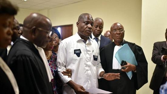 Martin Fayulu, à la Cour constitutionnelle de Kinshasa le 12 janvier 2019. © REUTERS/Olivia Acland