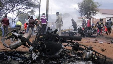 L'explosion a tout dévasté sur son passage... Morogoro, le 10 août 2019. © REUTERS/Emmanuel Herman