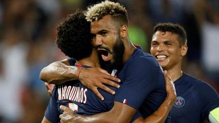 Le Camerounais Eric Maxim Choupo-Moting a marqué deux buts avec le PSG contre Toulouse, le 25 août 2019. Charles Platiau/Reuters