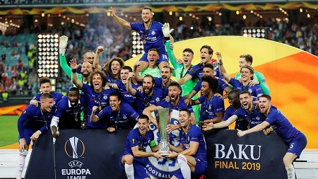 Chelsea a torpillé Arsenal (4-1) mercredi à Bakou pour s'offrir sa 2e Ligue Europa