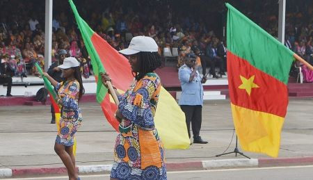 Défilé lors de la Journée internationale des femmes (2018) à Douala. Photo : Illustration