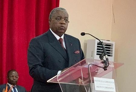 René Emmanuel Sadi, ministre de la Communication et porte-parole du gouvernement