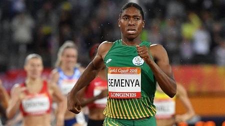 Caster Semenya, engluée dans une bataille juridique avec la Fédération internationale d'athlétisme (IAAF) au sujet du règlement sur l'hyperandrogénie
