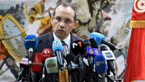 Le ministre tunisien de l'Intérieur Hichem Fourati. © FETHI BELAID / AFP