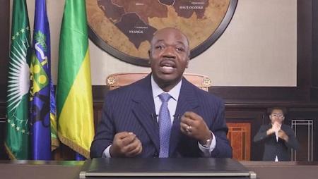 Copie d'écran de la vidéo de l'allocution prononcée par le président Ali Bongo, le 8 juin 2019. © Présidence de la République gabonaise