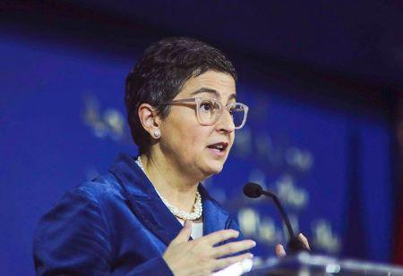 La ministre espagnole des Affaires étrangères Arancha Gonzalez Laya. PHOTO/AP