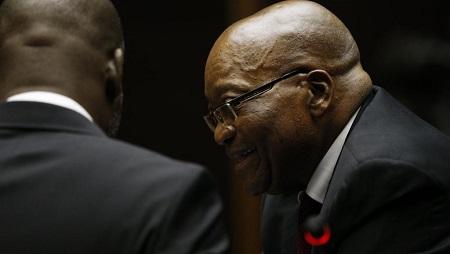 L'ex-président sud-africain Jacob Zuma lors de son audition au tribunal de Pietermaritzburg, le 30 novembre 2018. © ROGAN WARD / POOL / AFP