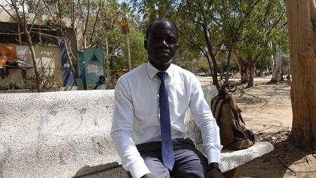 Portrait de Paul Mwilambwe, le principal témoin de l'assassinat de Floribert Chebeya, en mai 2019 au Sénégal. © RFI