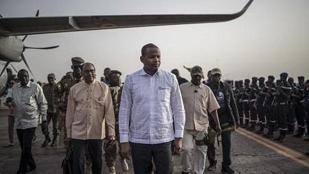 Le Premier ministre malien Boubou Cissé, ici à Sévaré dans le centre du Mali le 3 juillet 2019. © MARCO LONGARI / AFP
