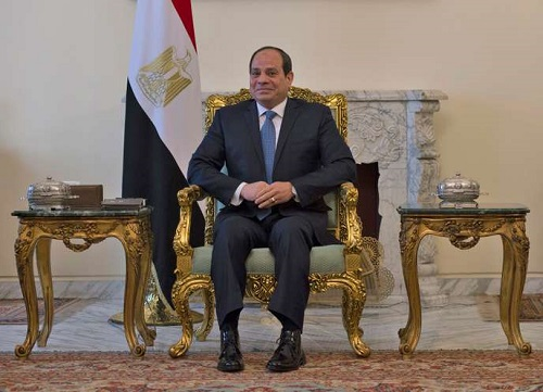 Le président égyptien, Abdel-Fattah Al-Sissi, au Caire, le 10 janvier. ANDREW CABALLERO-REYNOLDS / POOL / AP