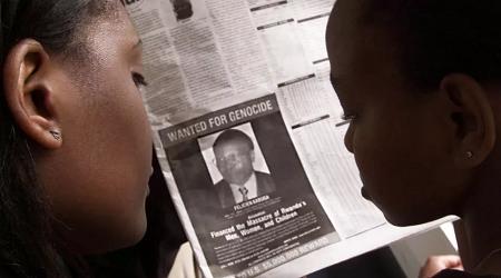 Avis de recherche de Félicien Kabuga publié dans des journaux kényans en 2002. REUTERS/George Mulala/File Photo