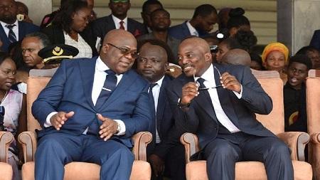 Le président Félix Tshisekedi et son prédécesseur Joseph Kabila