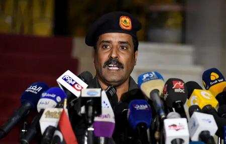 Le général Ahmad al-Mesmari est le porte-parole du maréchal Khalifa Haftar. — CHINE NOUVELLE/SIPA