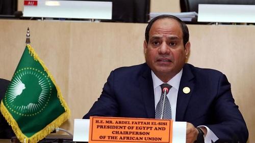 Le nouveau président en exercice de l'Union africaine, le chef d'Etat égyptien Abdel Fattah al-Sissi, le 11 février 2019 à Addis-Abeba, en Ethiopie. © REUTERS/Tiksa Negeri