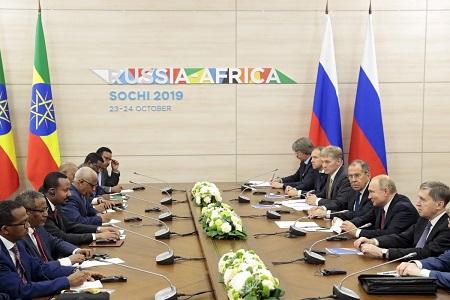 Sommet Russie-Afrique et Forum économique dans la station balnéaire de Sochi (Russie). Photo: EPA-EFE