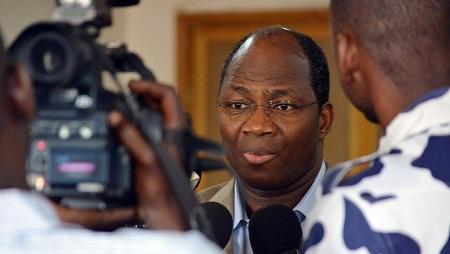 L'ex-ministre des Affaires étrangères burkinabè Djibrill Bassolé, à Ouagadougou, en juin 2013. © AHMED OUOBA / AFP