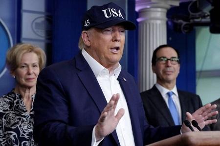 Donald Trump déclenche la guerre au virus sur le terrain de l'économie