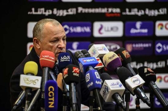 Le président de la Fédération égyptienne Hany Abou Rida, lords d'un point press au Caire, le 13 janvier 2019 afp.com - Mohamed el-Shahed