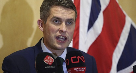 Gavin Williamson, ministre britannique de la Défense