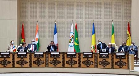 Le sommet du G5 Sahel à Nouakchott, le 30 juin 2020. Ludovic Marin /Pool via REUTERS