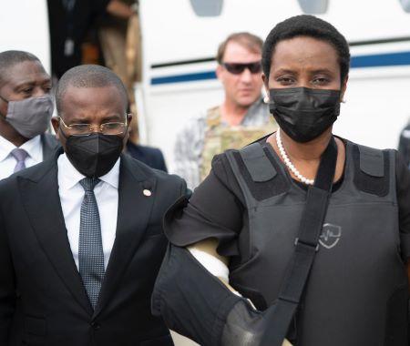 L'épouse du président assassiné de retour en Haïti