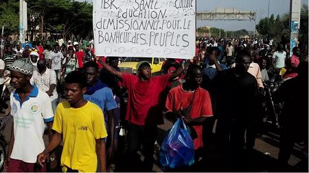 Grand rassemblement de l'opposition au président IBK à Bamako le 19 juin (illustration) REUTERS/Matthieu Rosier