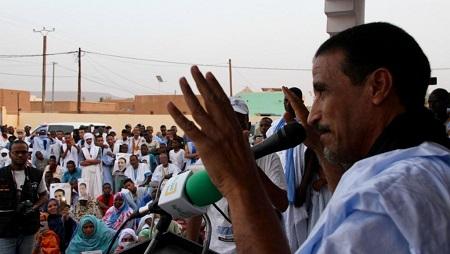L'opposant et candidat Mohamed Ould Maouloud en campagne à Atar, le 10 juin 2019, avant la présidentielle en Mauritanie. © RFI/Edouard Dropsy