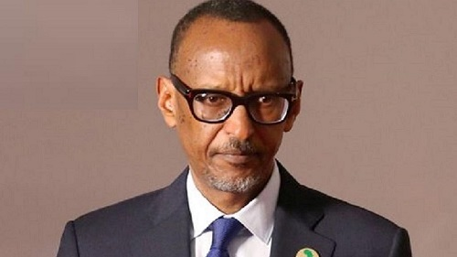 Paul Kagame,  chef de l'État rwandais
