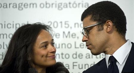 Isabel dos Santos et son mari Sindika Dokolo à Porto, au Portugal, le 5 mars 2015. (AP Photo/Paulo Duarte)