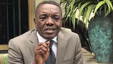 André-Alain Atundu, porte-parole du clan Kabila, en RDC. © RFI/Pascal Mulegwa