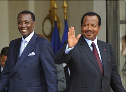 Les Présidents, Idriss Déby Itno du Tchad, et Paul Biya du Cameroun
