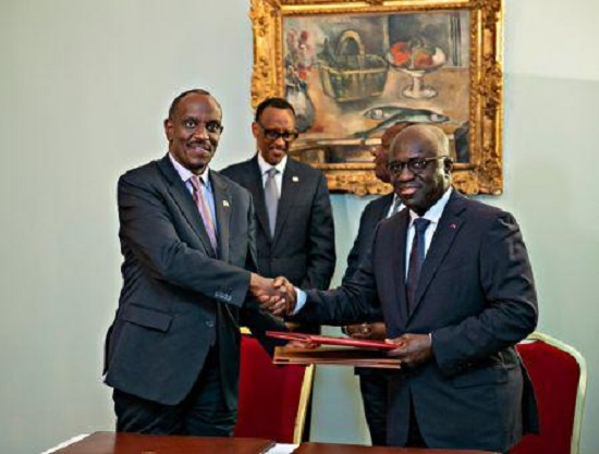La visite officielle du chef de l'Etat rwandais Paul Kagamé en Côte d'Ivoire, mercredi 19 décembre 2018