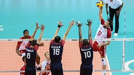 Les Tunisiens battus par les Polonais lors d'un Tournoi de qualification olympique pour les JO 2020. Mateusz Slodkowski/SOPA Images/LightRocket via Getty Images