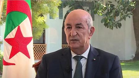 Abdelmadjid Tebboune lors d'une interview pour France 24. © France24 screengrab