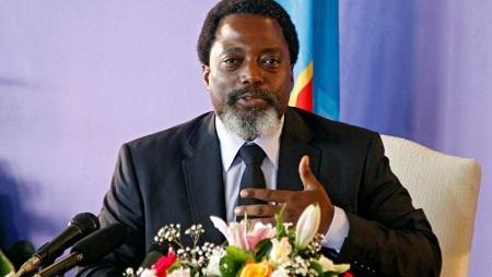Joseph Kabila, en conférence de presse à Kinshasa, le 26 janvier 2018 (image d'illustration). © REUTERS/Kenny Katombe