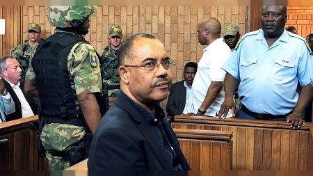 L'ancien ministre mozambicain des Finances Manuel Chang, arrêté l'an dernier à Johannesburg